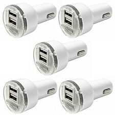 5x Pack Dual 2.1A 2-Port USB Car Charger Adapter For iPhone Samsung LG Universal