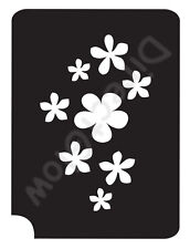 "Flowers 11026 Body Art Glitter Makeup Tattoo Stencil 2.75"" x 3.75""- 5 Pack"