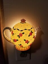 Mary Engelbreit Night Light Teapot Yellow Floral