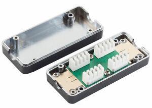 Cat 6+ Cat7 bis 600Mhz LSA Anschlussbox Kabel Verbinder LAN RJ45 Verlängerung TP