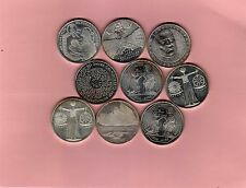 Posten 9  mal 10 Mark aus 1998-2001  - Silber  925 ( 25152  )