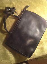 Black genuine leather shoulder/handbag 'Clubhouse designed by Jane Shilton'