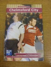 22/01/2011 Chelmsford City v Bishops Stortford  . Footy Progs/Bobfrankandelvis o