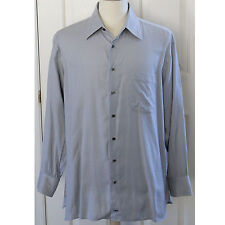 John W. Nordstrom Men 100% Cotton Solid Blue Dress Shirt Men Size 16.5 16 1/2 33