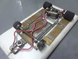 1/24 vintage brass & wire chassis. mura x12. 64p gears.tested on track runs good