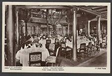 Postcard RMS Mauretania cruise ship liner interior First Class Dining Saloon RP