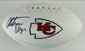 Christian Okoye Signed Kansas City Chiefs Logo Football (JSA Witness COA)