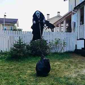 Creative Garden Ghost Face Scarecrow Yard Hanging Scary Scream Halloween NEU