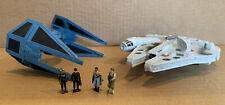 Star Wars Action Fleet Classic Duels Tie Interceptor vs Millennium Falcon RARE