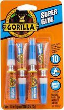 New listing Gorilla Versatile Super Glue, Four 3Gram Tubes,Clear,High strength & Quick Dries