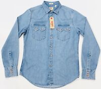 Levi's Western Denim Shirt Light Wash Men's Slim Fit Size S / XL
