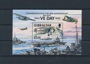 LN71142 Gibraltar 1995 VE day military good sheet MNH