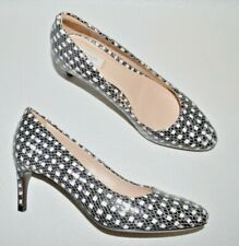 COLE HAAN NEW SZ 6 B CHECKERED TEXTURED LEATHER PUMPS HEELS SHOE