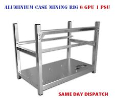 Aluminium Cryptocurrency Open Air Mining Rig Frame Miner Case For 6 GPU 1 PSU