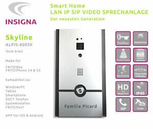 Premium HD Video TÜR SPRECHANLAGE für FritzBox  SIP IP LAN WLAN DESIGN ANTHRAZIT