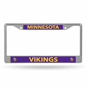 Minnesota Vikings Lightweight Chrome Metal License Plate Frame