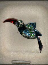 Swarovski Crystal Mint Paradise Birds Brooch Bamba Black 9602 020 101 / 277804