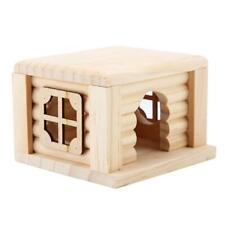 1PC Flat Natural Wooden Tortoise Guinea Pig Hamster Pet Hideaway House