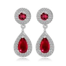 S18 Made Using Swarovski Crystals The Kasidy Red Teardrop Earrings $88