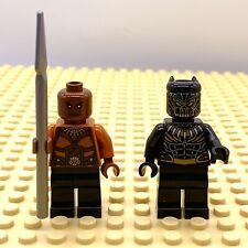 Lego Killmonger + Okoye MiniFigures Avengers Infinity War Black Panther