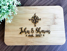 """Personalised Engraved """"Destination"""" Mini Bamboo Serving or Chopping Board"""