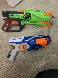Lot of 2 Nerf Guns (Excellent Condition) ELITE DISRUPTOR AND CROSSBOW