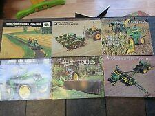 Lot of 6 John Deere Sales Advertising Brochures 1971-1999 Tractors Planters etc