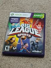 Xbox 360 KINECT 'Big League Sports' (Activision, 2011) Complete Video Game