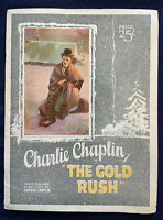 "1925 FILM PROGRAM CHARLIE CHAPLIN THE GOLD RUSH Grauman's Egyptian Theatre 9X12"""