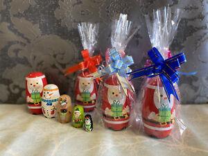 Christmas Wooden Nesting Dolls - Russian Dolls - New - Christmas Gift