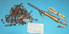 Curling Iron Vintage Metal Electric Works & 100 Hair Clips Lady Ellen & more