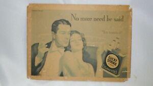 1933 LUCKY STRIKE HAYDEN HAYDEN NO MORE NEED BE SAID CARDBOARD STORE PROMO SIGN