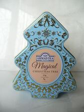 Ahmad Tea London tin empty box Magical Christmas tree used rare Loose tea