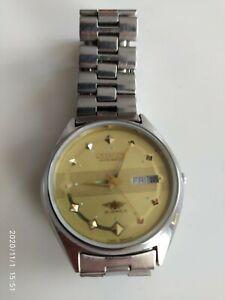 Vintage Men's Citizen 8200 Day Date Automatic 21-Jewels Wrist Watch