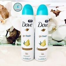 2 Pack Dove Go Fresh Pear & Aloe Antiperspirant 48 Hr Deodorant Spray 150ml each