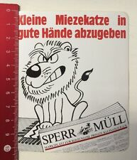 Aufkleber/Sticker: Sperr Müll - Kostenlose Private Kleinanzeigen (070316183)
