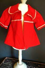 Vintage! Bright Red Jacket Dress for Hard Plastic or Composition Vintage Dolls