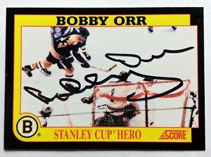 BOBBY ORR AUTO SIGNED AUTOGRAPH 1991-92 SCORE HOCKEY CARD BOSTON BRUINS