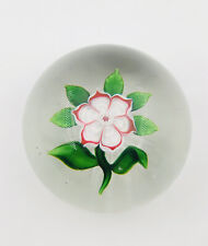 Antique Baccarat Flower Glass Paperweight