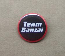 """TEAM BANZAI logo button 1.25"""" badge pinback Adventures of Buckaroo Banzai 8th"""