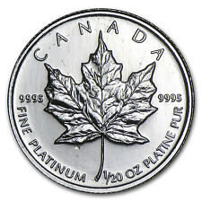 Canada 1/20 oz Platinum Maple Leaf BU (Random Year) - SKU #7479