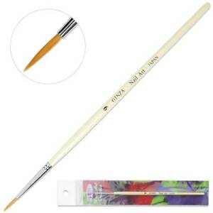 Ginza Japan Professional Drawing Nail Art Liner Brush with White Wooden Handle