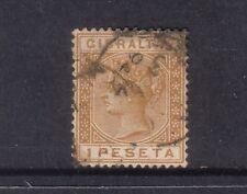 GIBRALTAR....  1889 QV   1p bistre used