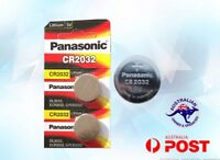 2 Panasonic Lithium 3V Battery 2 x CR-2032 CR2032  cell ECR2032 EXPIRY 12-2024