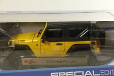 1/18 Maisto 2014 Jeep Wrangler JK Willys 2dr soft top Brand new release in stock