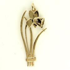 Neues Angebot9ct Rose Gold Walisische Design Narzisse Anhänger mit oder Ohne Goldkette