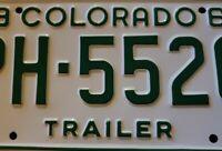 1969 Colorado License Plate #PH-5526 Man cave F3