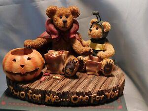 "Boyds Bears HALLOWEEN Large Bearstone ""DEVON w/LIL' BUZZ"" - 1E - NIB"