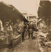 BOSNIE Sarajevo Marché Musulmans Photo Stereo P8L2n Vintage Argentique