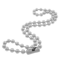 Stainless Steel Mens Round Ball Thick Chain Necklace